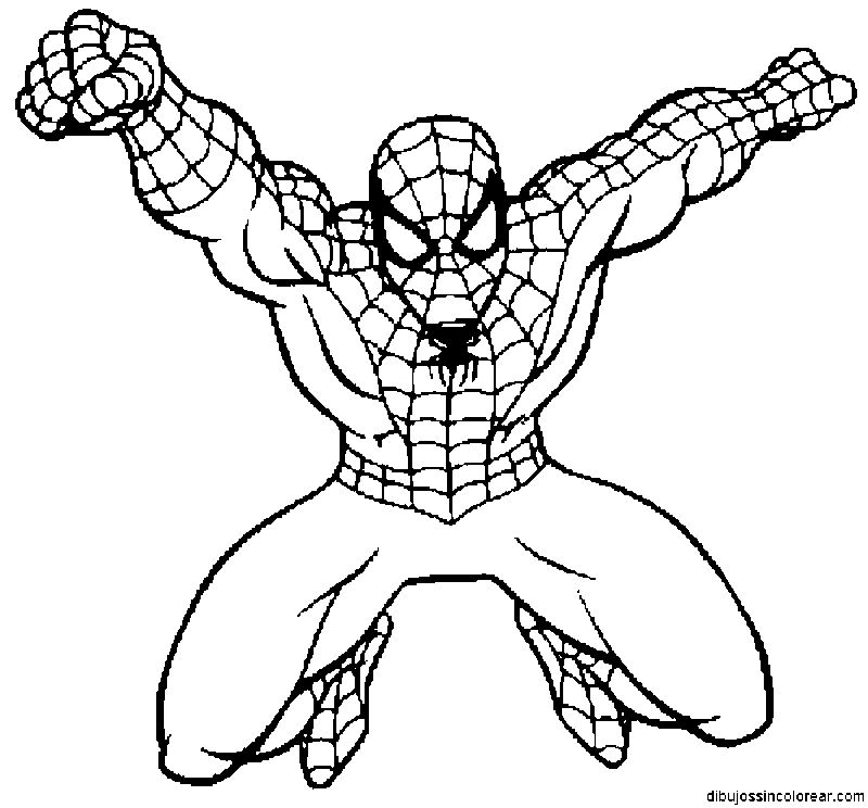 Coloring pages for kids spiderman
