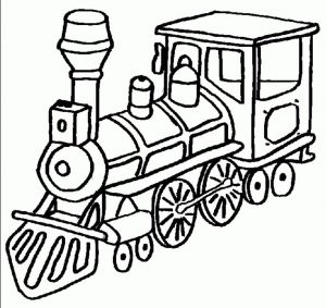Coloring pages for kids trains