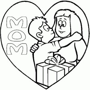 Coloring pages for mothers day