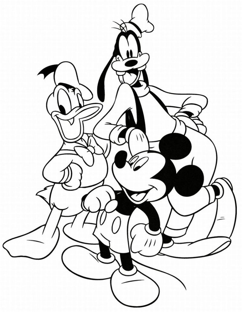 Coloring Pages For Toddlers To Print Disney