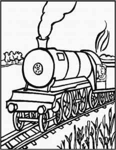 Coloring pages for trains