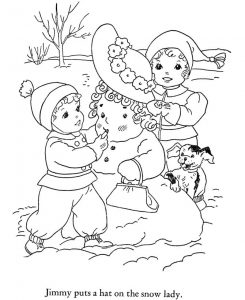Coloring pages for winter