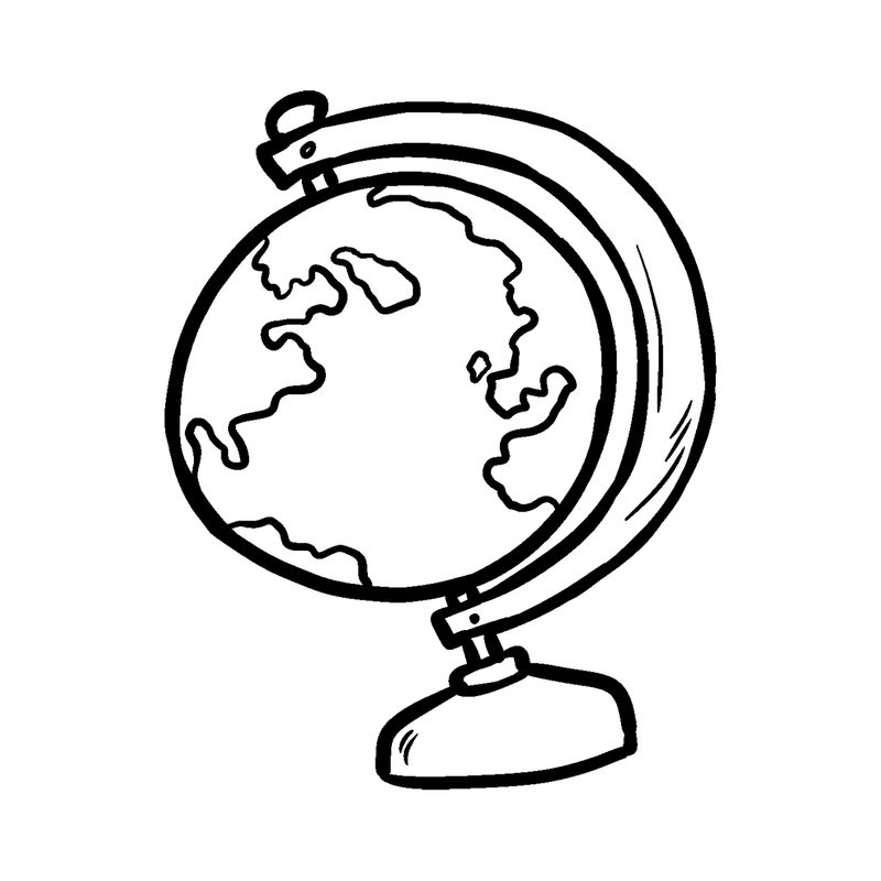 Coloring Pages Globe For Kids 001