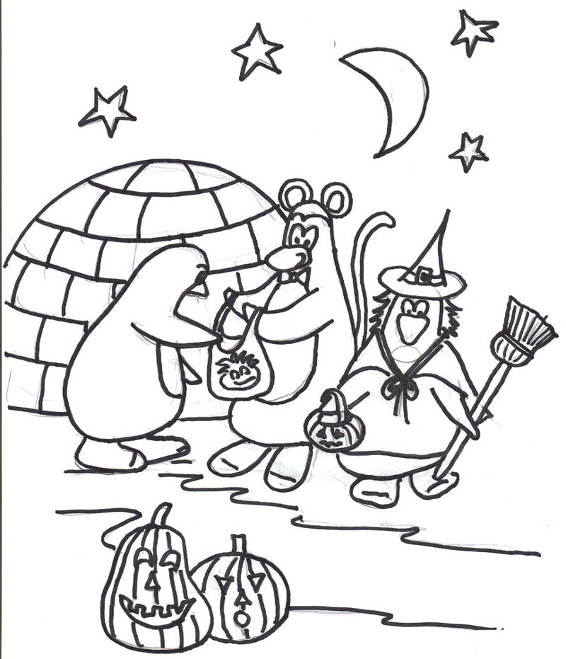 Coloring Pages Halloween Fun 001