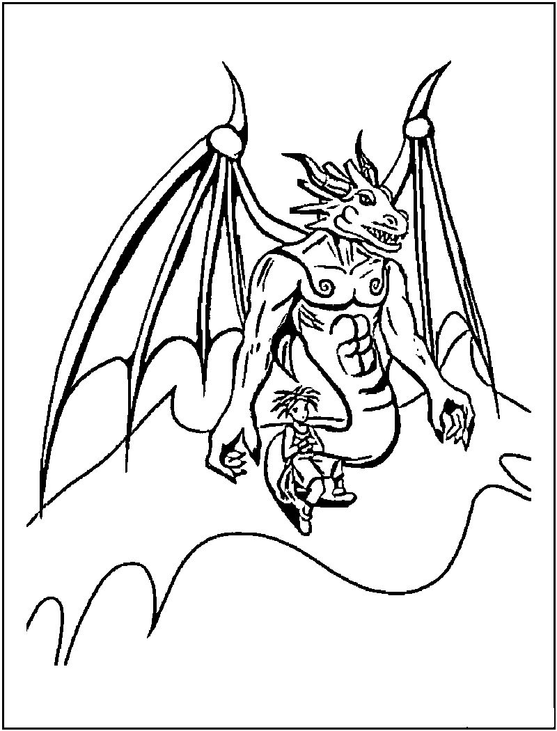 Coloring Pages Of A Dragon 001