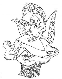Coloring pages of alice in wonderland