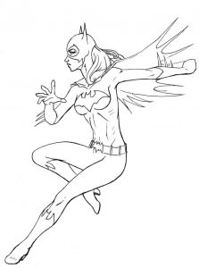 Coloring pages of batgirl
