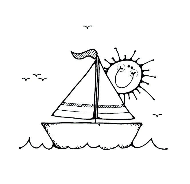 Coloring Pages Of Boat