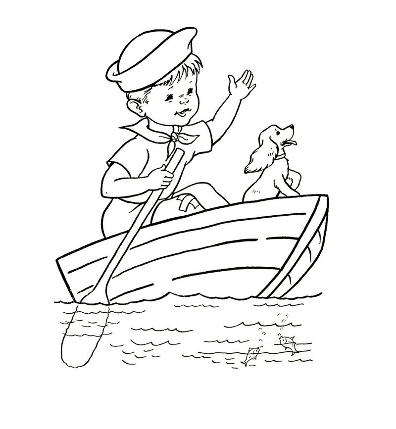 Coloring Pages Of Boats