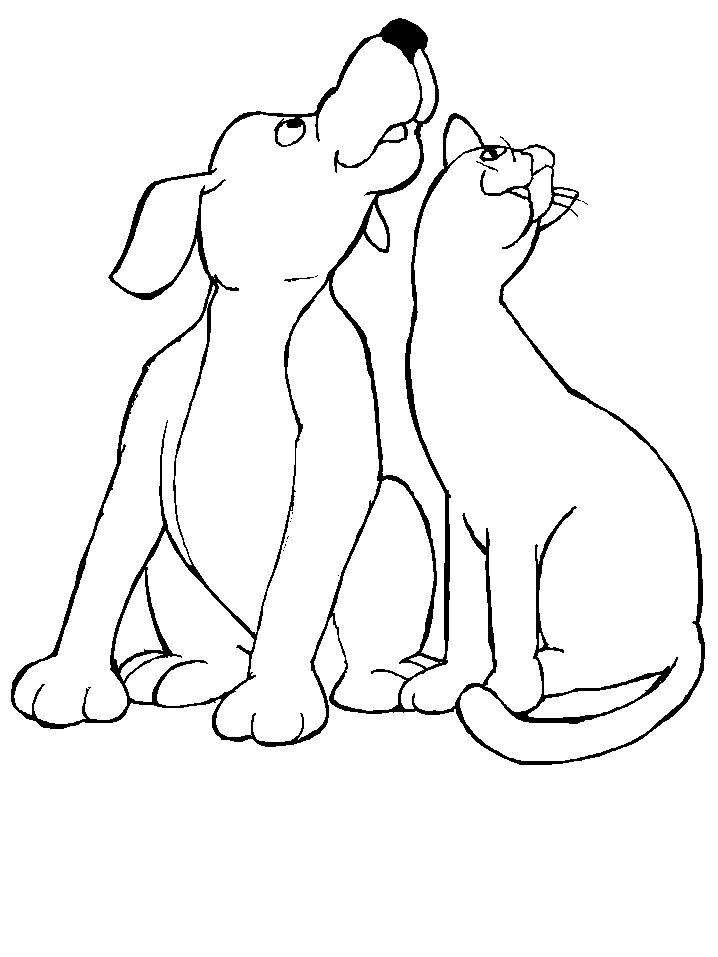 Coloring Pages Of Cats And Dogs1