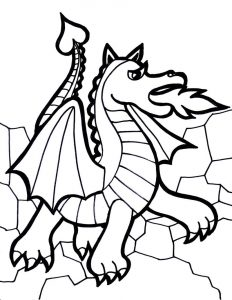 Coloring pages of dragons 001