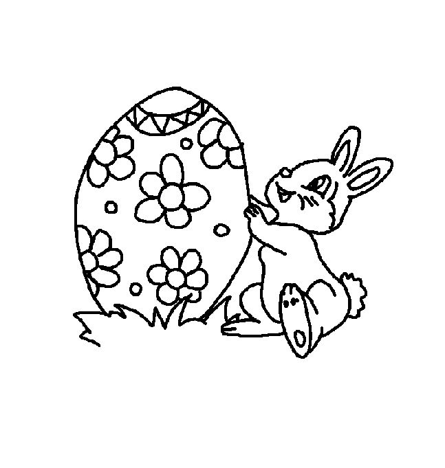 Coloring Pages Of Easter Eggs