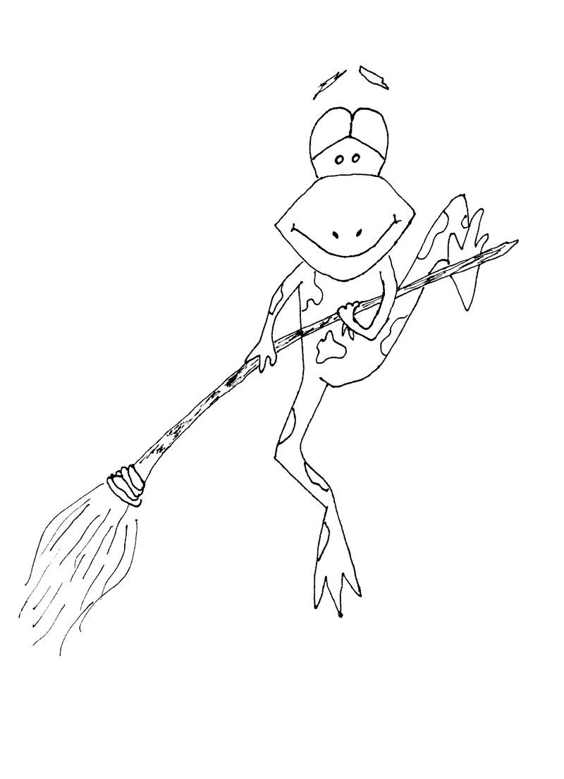 Coloring Pages Of Frog