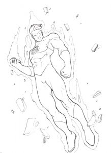 Coloring pages of green lantern