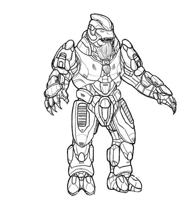 Coloring Pages Of Halo For Kids
