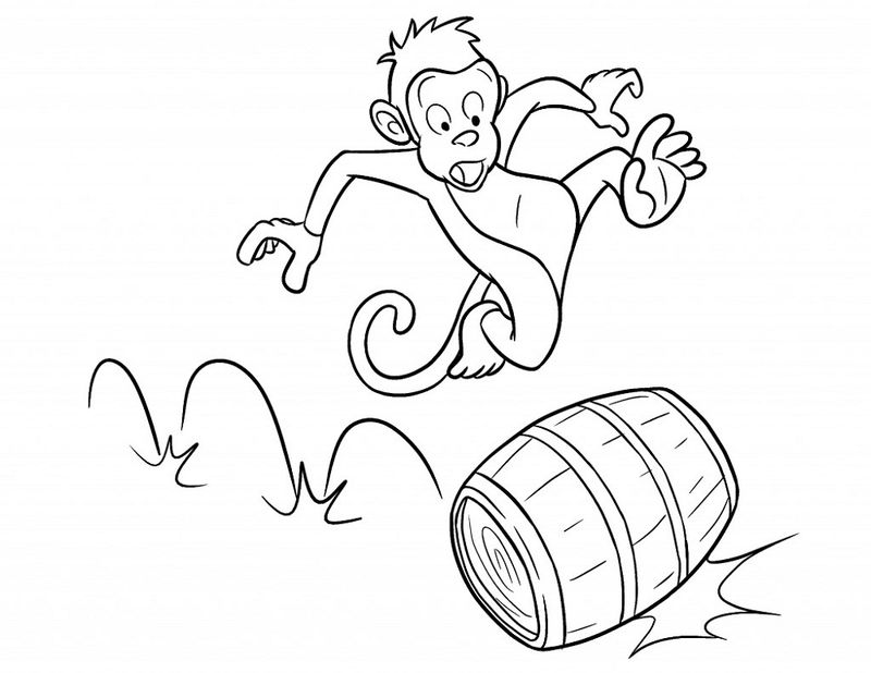 Coloring Pages Of Monkeys Cartoon