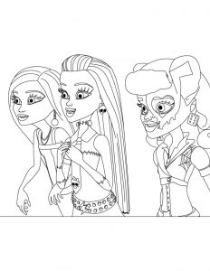 Coloring pages of monster high dolls