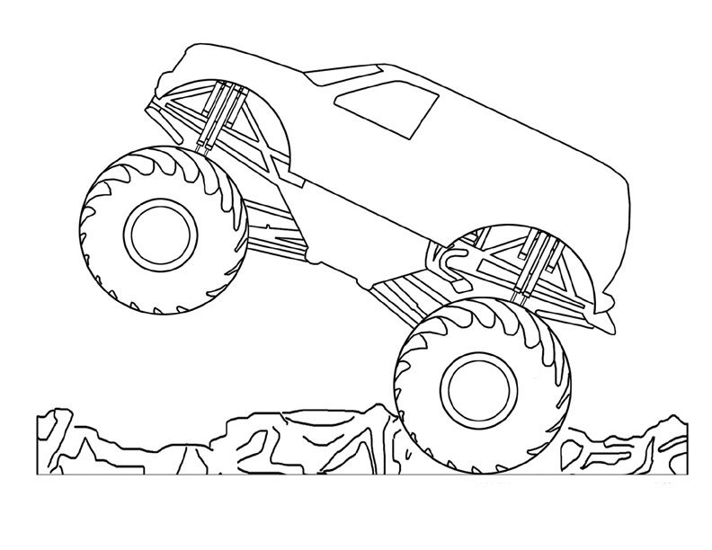 Coloring Pages Of Monster Trucks For Kids