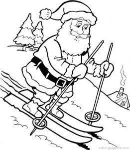 Coloring pages of santa claus for kids