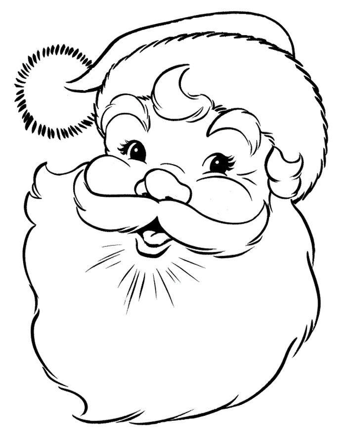 Coloring Pages Of Santa