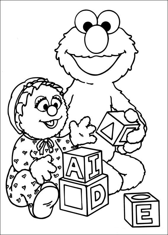 Coloring Pages Of Sesame Street Characters 001