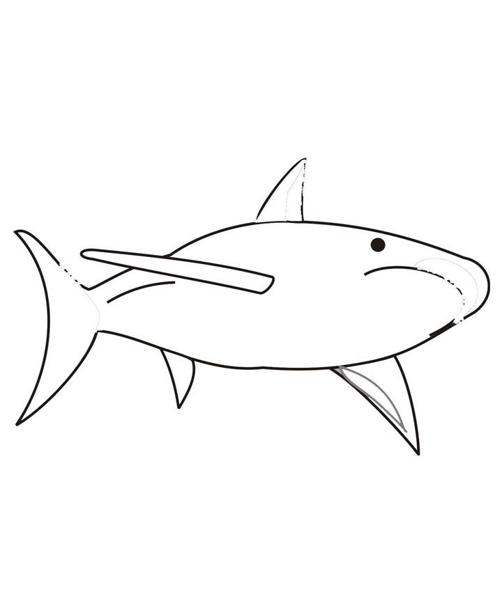 Coloring Pages Of Sharks For Kids