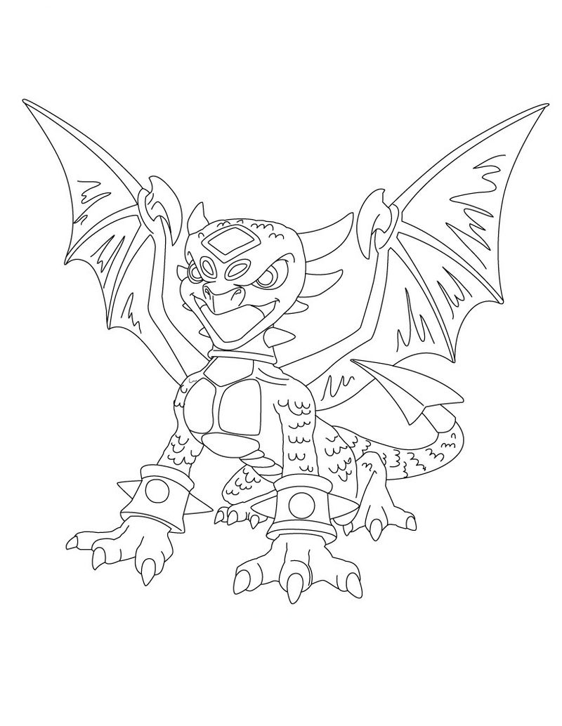Coloring Pages Of Skylanders Giants 001
