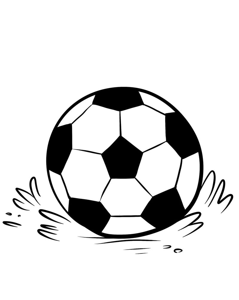 Coloring Pages Of Soccer Balls 001
