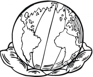 Coloring pages of the earth for kids