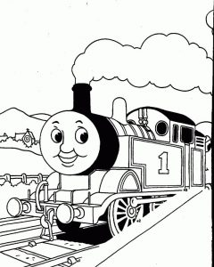 Coloring pages of trains for preschoolres