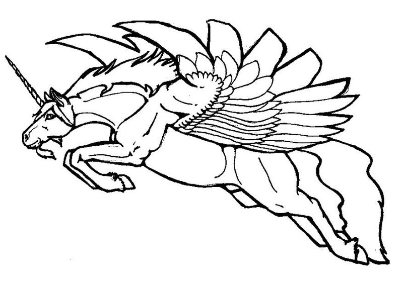 Coloring Pages Of Unicorns For Kids