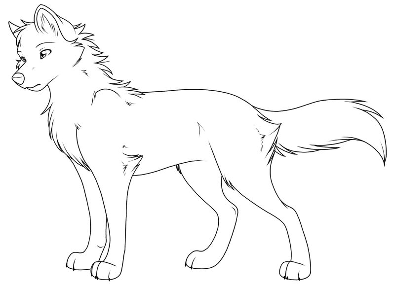 Coloring Pages Of Wolfs