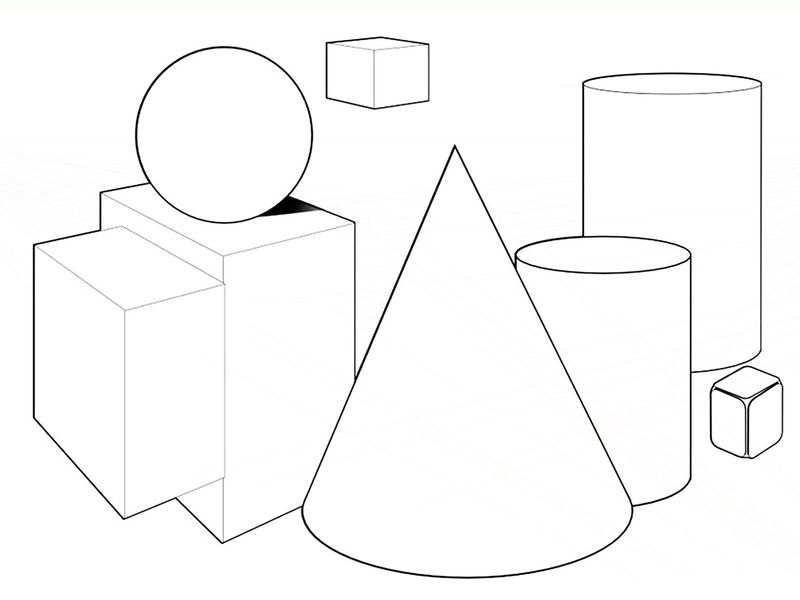 Coloring Pages Shapes Geometric
