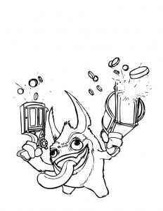 Coloring pages skylanders giants 001