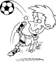 Coloring pages soccer 001