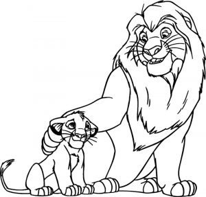 Coloring pictures of animals lion fun 001