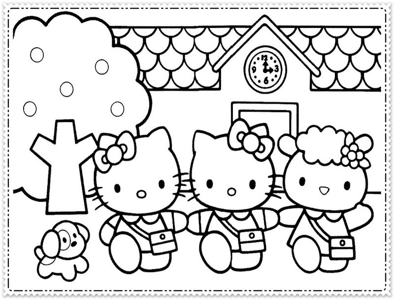 Coloring Worksheet Hello Kitty 001
