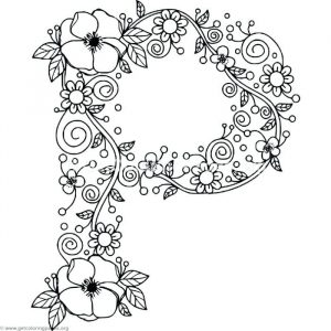Coloring worksheets letter p