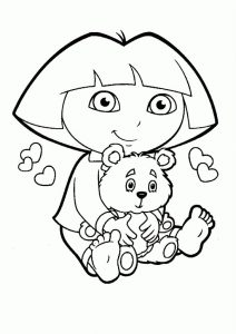 Colour cartoon dora 001