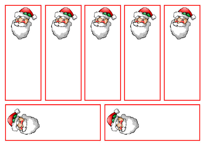 Colour Your Own Bookmarks Christmas 001