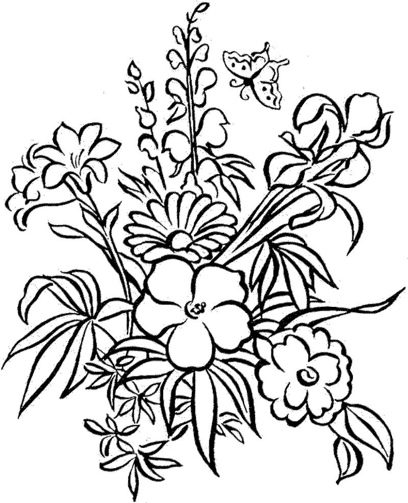Colouring Pictures For Children Flowers