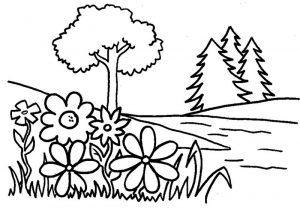 Colouring pictures for toddlers plant