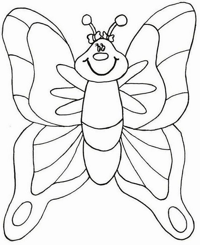 Colouring Worksheets Printables Butterfly