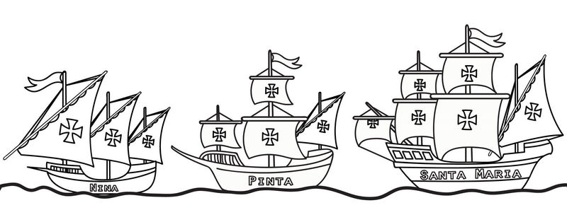 Columbus Day Coloring Pages 1