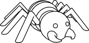 Comic cartoon spider coloring page