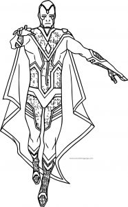 Coming magical avengers coloring page