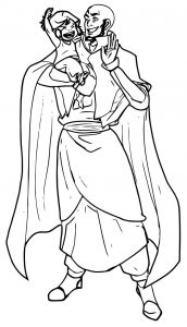 Commission for ayumiruki aang and korra minuiko dzk avatar aang coloring page