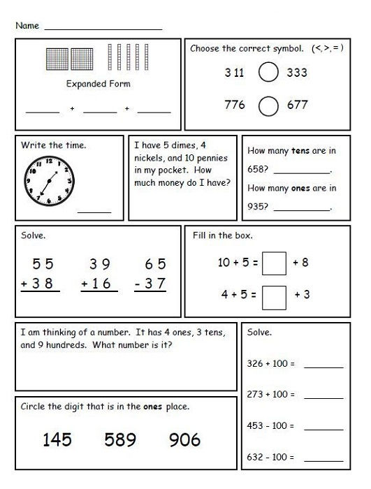 Common Core 2nd Grade Math Worksheets