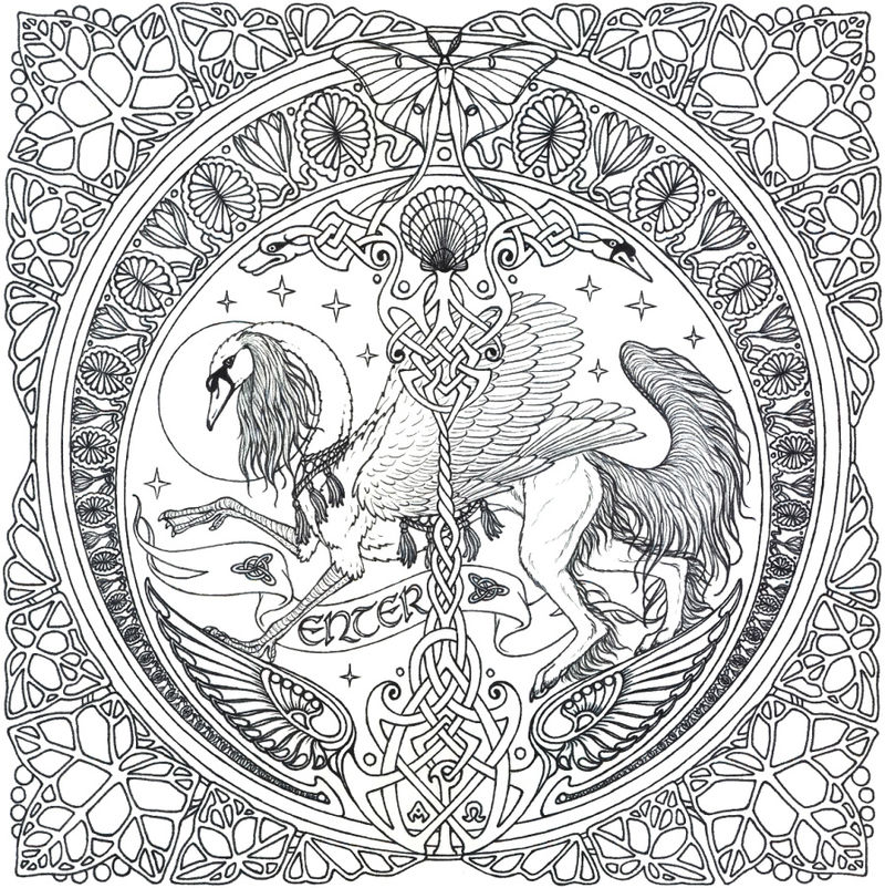Complicated Coloring Pages For Adult