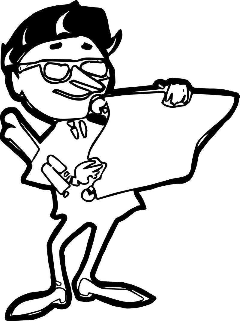 Computer Engineer Paper Coloring Page